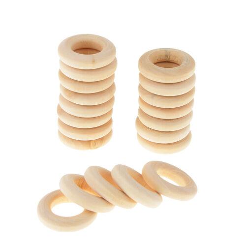20 Stücke Holzring Natur Holzringe Schmuck DIY Schmuckherstellung