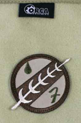 Orca Industries Hook /& Loop Morale Patch Mandalorian Boba Fett Crest Patch
