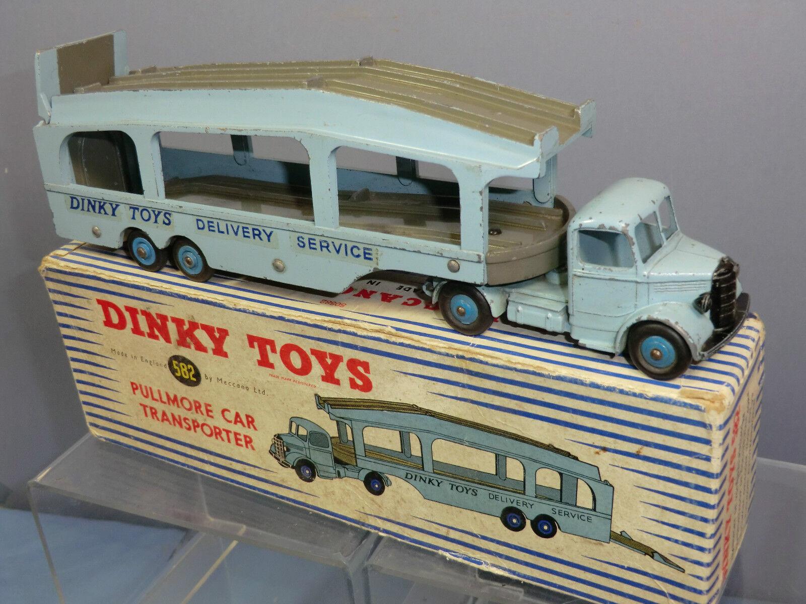 DINKY TOYS MODEL No.582 PULLMORE CAR TRANSPORTER  6 RIVET TRAILER  VN MIB RARE