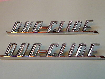 Harley CHROME Fender emblem ELECTRA GLIDE oem 59196-65 *** MATCHED Pair For SALE