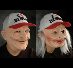 image is loading 2 bingo old man amp woman mask adult