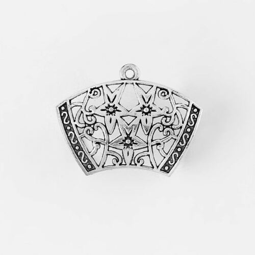 5 Gran Collar de plata tibetana Bufanda fianzas conector encantos Colgantes Hallazgos