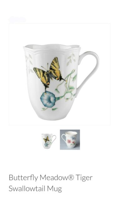 LENOX BUTTERFLY MEADOW TIGER SWALLOWTAIL MUG NEW WITH TAG