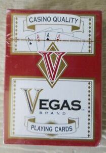 Casino-Quality-Vegas-Brand-Playing-Cards-Unopened-in-Plastic-NEW