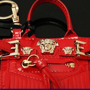 76a01e108560  395 VERSACE Red MEDUSA BAG CHARM   KEY FOB w  Price Tag ...