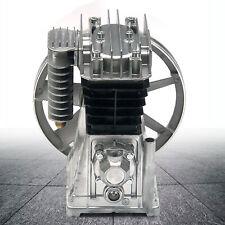 3hp Piston Style Twin Cylinder Air Compressor Pump Motor Head Air Tool Silencer