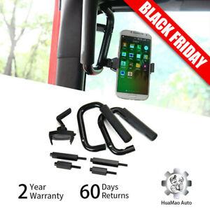 Front-Grab-Bars-Grip-Handles-W-Mobile-Phone-Holder-For-07-Jeep-Wrangler-JK-JKU