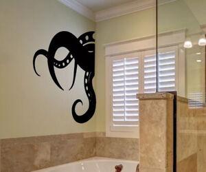 Details zu Bathroom shower octopus kids home Wall Art Sticker Vinyl Decals  Transfer Mural