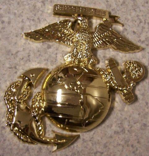 Military Plaque U S Marine Corps metal NEW wall or shadow box mount