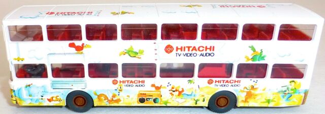 Hitachi TV Video Audio Advertising Bus Print from Man SD 200 wiking H0 1:87 Å