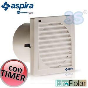 Aspiratore aria da bagno elicoidale evm10 4 t aspira con timer di spegnimento ebay - Aspiratore aria bagno ...