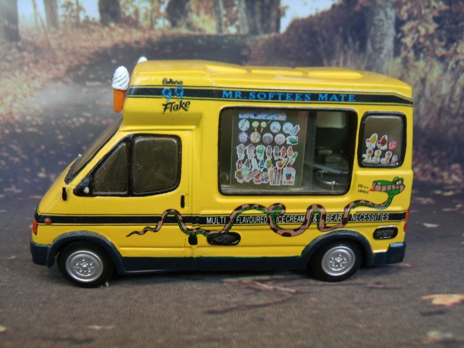 1 43 Ford Transit Mister Softee Hecho A Mano Modelo De Resina