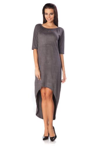 Robe t-shirt femme asymétrique manche courte Velvet Touch Parti Tunique Taille 8-12 ft2323