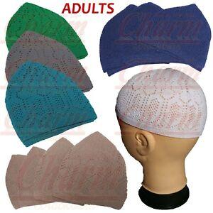 2db78146b Details about Mens Boys Adults Teens Islamic Skull Head Cap Muslim Prayer  Mosque Hat Topi Kufi