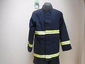 MOD-Ballyclare-Firefighter-Fireman-ripstop-water-fire-proof-Jacket-blue-Tunic