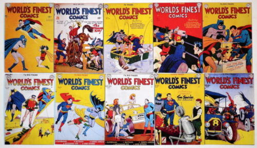 "10 WORLD'S FINEST COMICS 2"" x 3"" COVER MAGNETS World's Finest #4150"