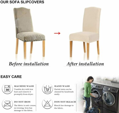 Stretch Dining Chair Cover for Home Decor Slipcover Fleece and Velvet materail