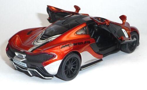 2013 McLaren P1 Sammlermodell 1:36 metallic orange Neuware von KINSMART