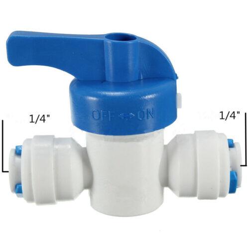 1//4 /'/' Inline-Kugelhahn Schnellkupplung Abgeschaltet für RO WasserumkehrosmYEDE