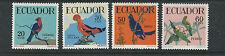 ECUADOR 1958 BIRDS CARDINAL etc (Scott 645-48) VF MH
