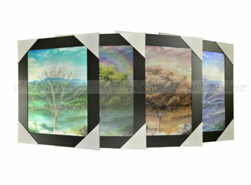 3 Dimension 3D Lenticular Picture Tree Four Seasons Spring Summer Fall Winter