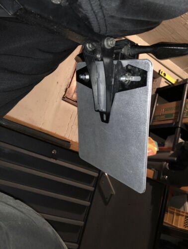 konfigurierbar Kennzeichenhalter Blech Alu 3mm TOP 180x200mm neu