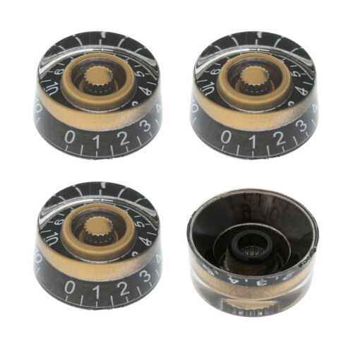Set 4x Black Speed Control Knob für Les Paul Gibson EPIPHONE E-Gitarre
