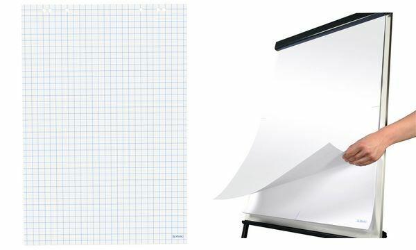 Ursus Green Flipchart Block mit 20 Blatt blanko weiß 80g//m² für Flipchart Tafeln