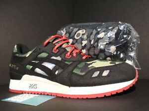 ffdeed961257a ASICS GEL-LYTE III 3 BAIT VANQUISH BLACK WHITE RED CAMO GREEN H34LK ...