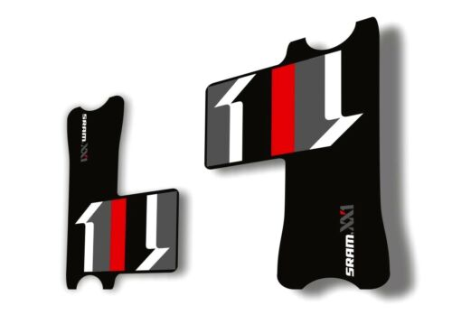 Crank Set Stickers Decals SRAM XX1 Mountain Bike Bicycle Adhesive 2Pc Red #1