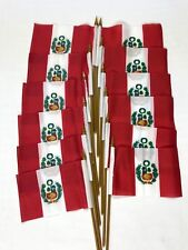 """SOUTH VIETNAM COUNTRY 4 X 6 MINI STICK FLAG WITH 10/"""" PLASTIC POLE"""