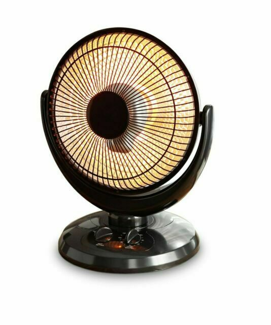 infrared oscillating dish heater 2 settings 800w