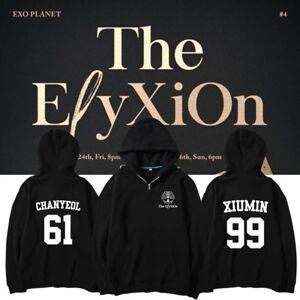 KPOP EXO Zipper Sweater The EℓyXiOn Pullover BAEKHYUN Sweatershirt SUHO Hoodie