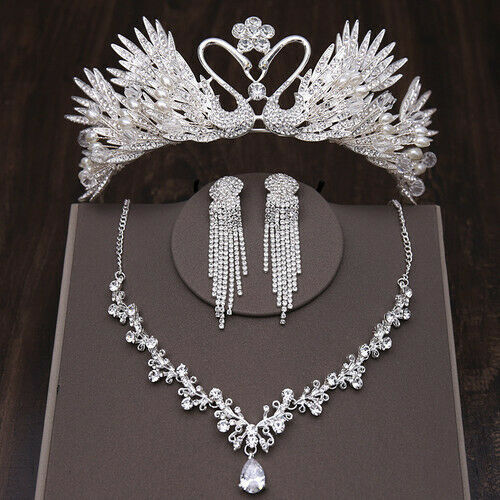 Details about  /Bride crown tiara 2020 new atmospheric princess wedding three-piece suit