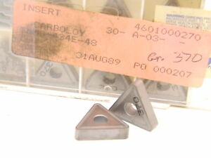 NEW-SURPLUS-10PCS-SECO-CARBOLOY-TNMG-434-E-48-GRADE-370-CARBIDE-INSERTS