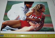 PHOTO 1984 JEUX OLYMPIQUES LOS ANGELES MARY DECKER USA FINALE 3000 M