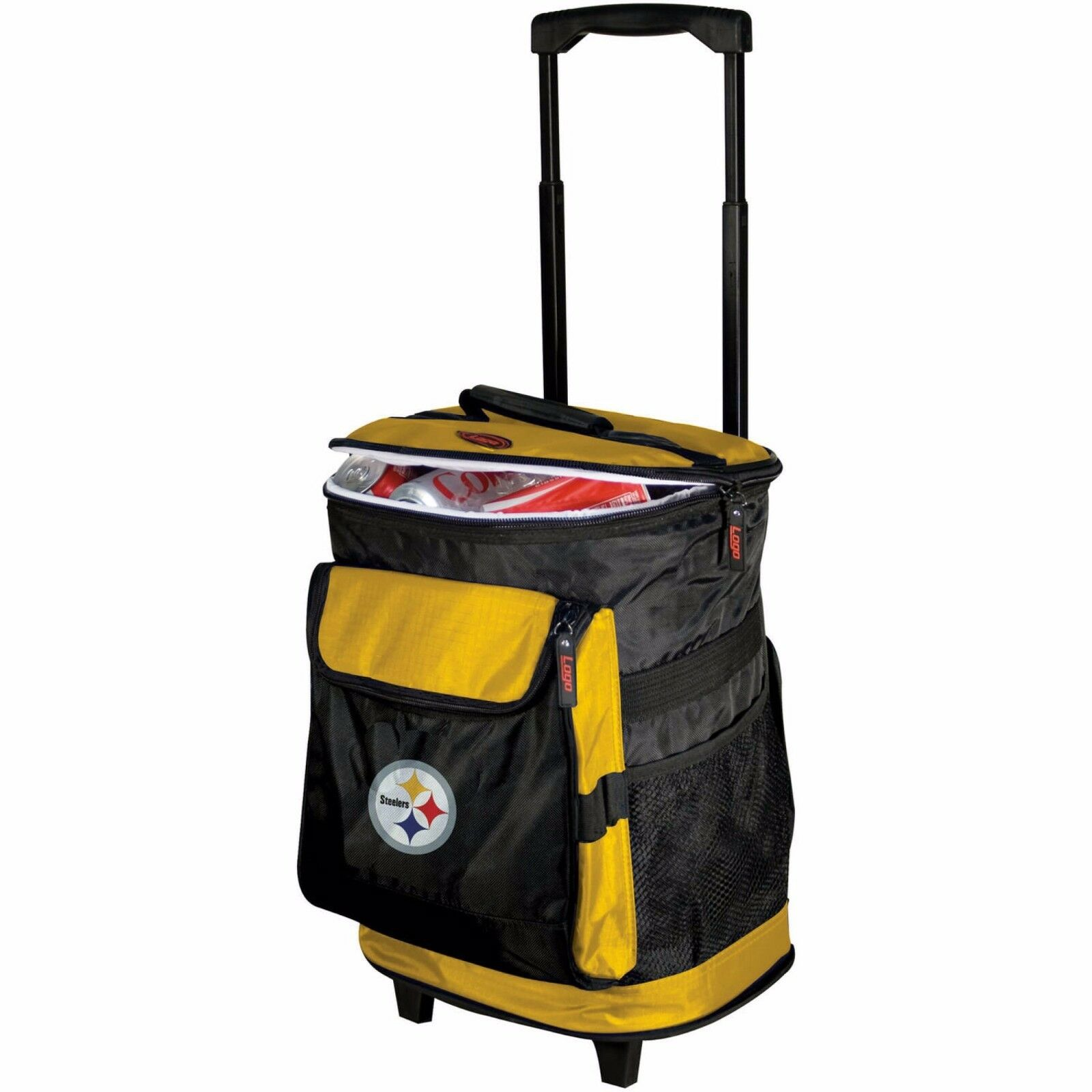 Brand New - Pittsburgh Steelers Rolling Cooler by Logo FREE SHIPPING