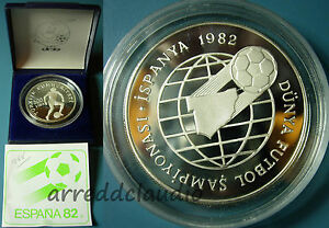 TURCHIA-TURKIJE-TURKEY-MONDIALE-CALCIO-I-SPAGNA-1982-500-LIRA-ARGENTO-925-PROOF