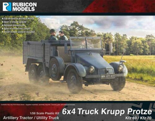 Rubicon Models 28mm Kfz 69//70 6x4 Krupp Protze Artillery Tractor//Utility Truck #