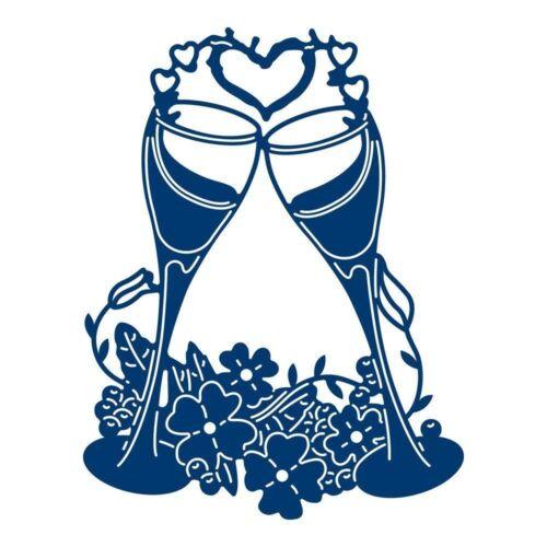 Tattered Lace Champagne Gafas Craft Corte Die-TLD0458 Gratis Reino Unido P/&p