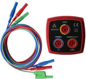 Ldmr 2 R1 R2 Ring Secteur Socket Test Adaptateur + Lead Set pour Megger Testeurs