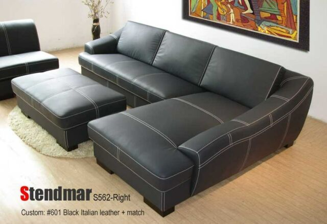 3PC EURO STYLE LEATHER SECTIONAL SOFA SET S562 For Sale Online   EBay