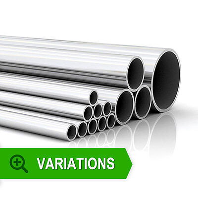 Stainless Steel Polished Tube Pipe Metal T304 Exhaust Hose Repair Bright Car