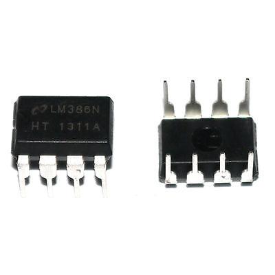 10* New AMPLIFIER DIP-8 IC 0.25W NewLM386 LM386N Audio Power Better Quality K64