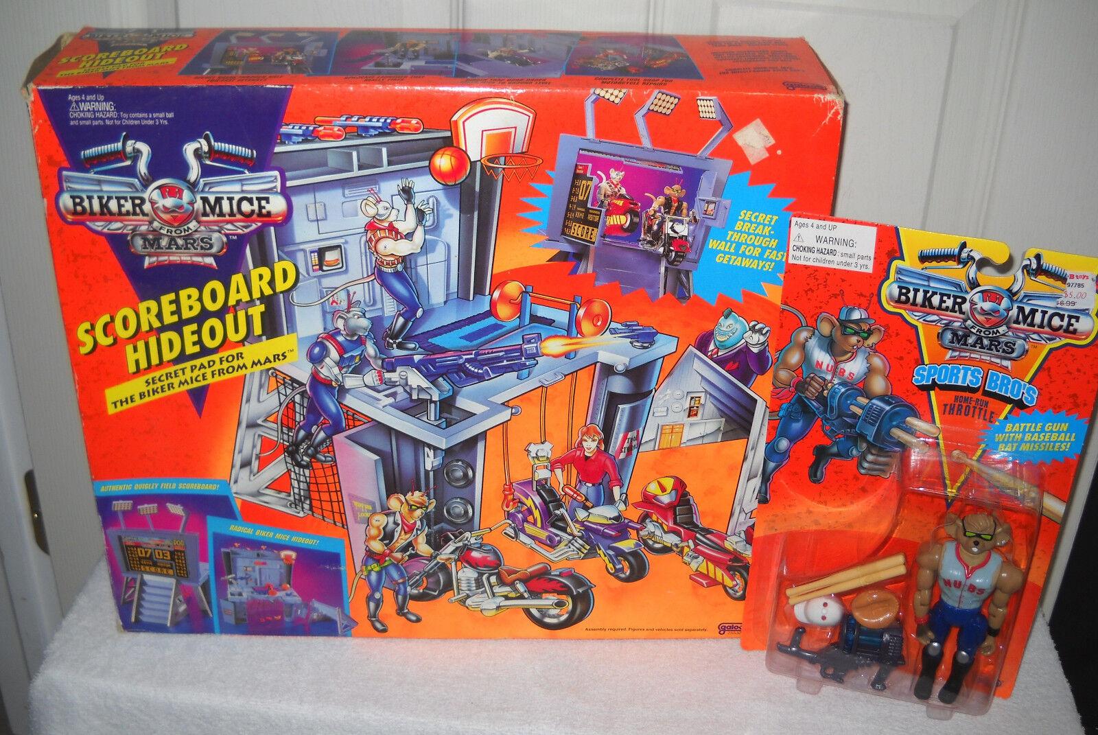2208 RARE Galoob Biker's Mice From Mars Scoreboard HIdeout & Throttle Figure