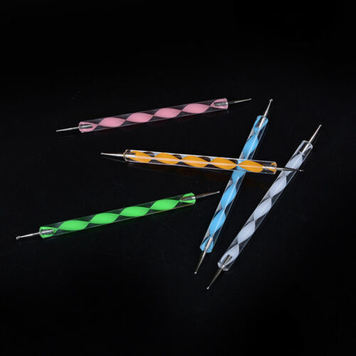 5X 2 Way 10 Different DIY Ball Styluses Clay Sculpting Tools Nail Dotting F1BC