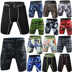 Mens-Compression-Short-Sport-Pants-Base-Layer-Skin-Tights-Running-Workout-Gym