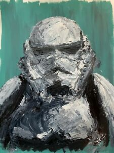 Original-Abstract-Stormtrooper-Star-Wars-Portrait-Palette-Knife-Painting-Art-24-034