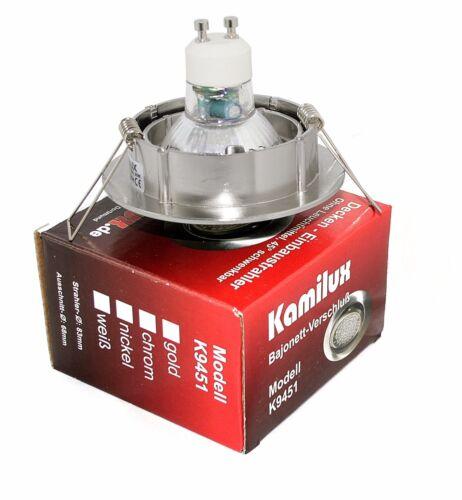 Einbaustrahler Bajo 5W SMD LED Leuchte GU10 Einbauled Schwenkbar Einbauspot 230V