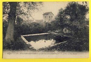 cpa-FRANCE-94-CHAMPIGNY-sur-MARNE-La-SOURCE-de-COEUILLY-Lavoir-Abreuvoir